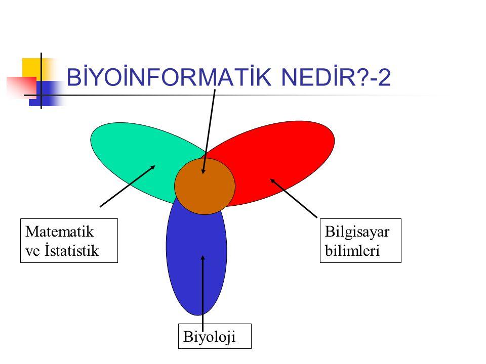 BİYOİNFORMATİK NEDİR -2