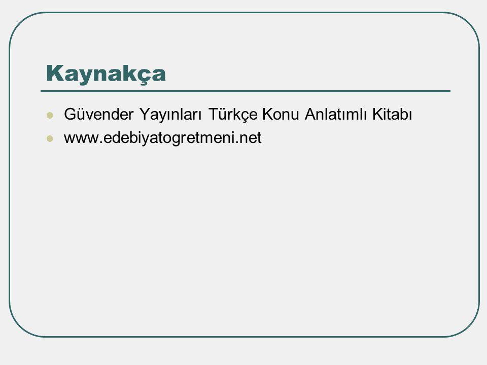 Kaynakça Güvender Yayınları Türkçe Konu Anlatımlı Kitabı