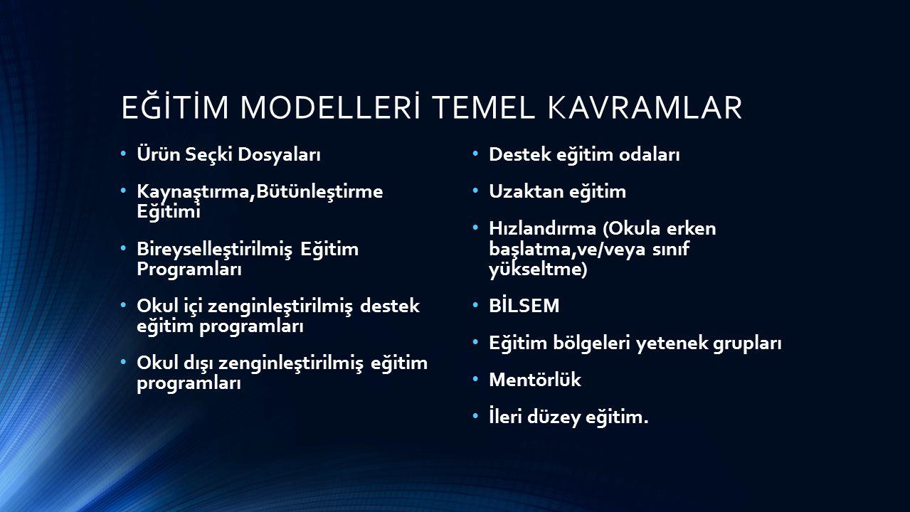 EĞİTİM MODELLERİ TEMEL KAVRAMLAR