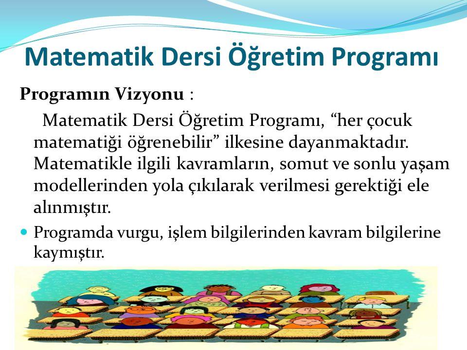 Matematik Dersi Öğretim Programı
