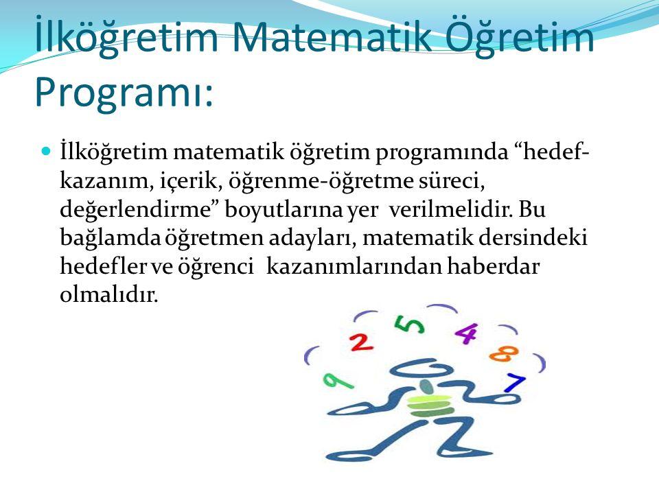 İlköğretim Matematik Öğretim Programı: