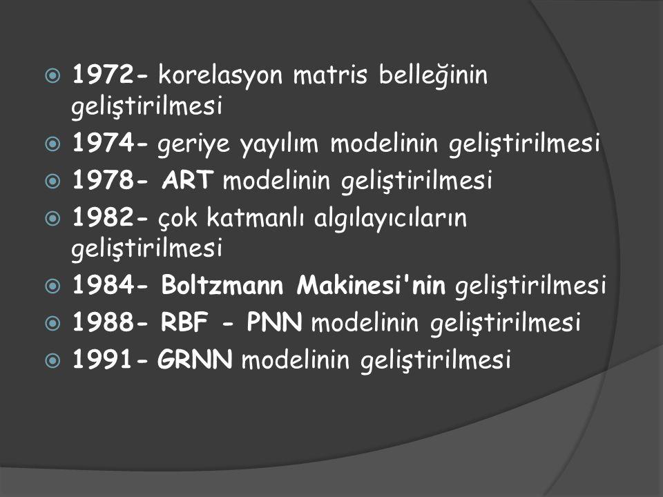 1972- korelasyon matris belleğinin geliştirilmesi