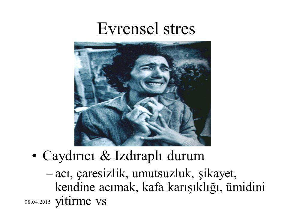 Evrensel stres Caydırıcı & Izdıraplı durum