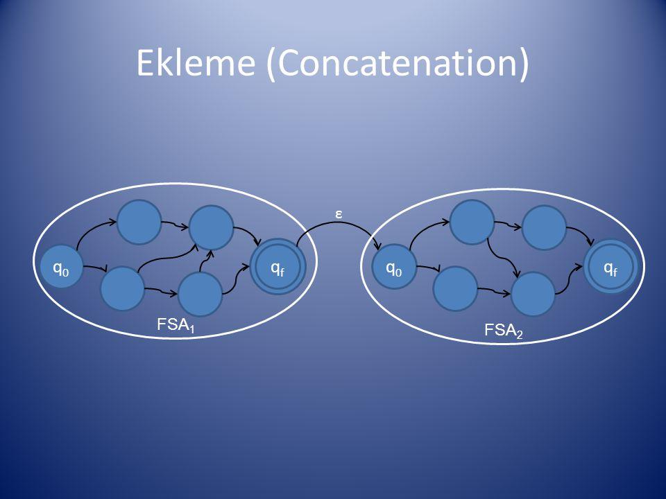 Ekleme (Concatenation)