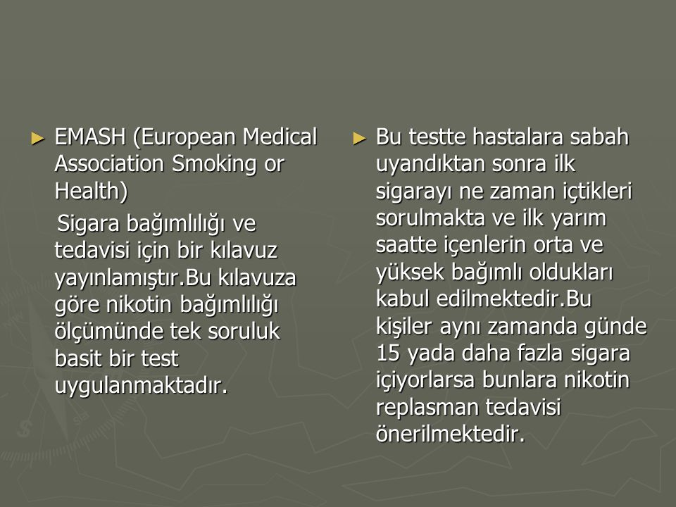 EMASH (European Medical Association Smoking or Health)