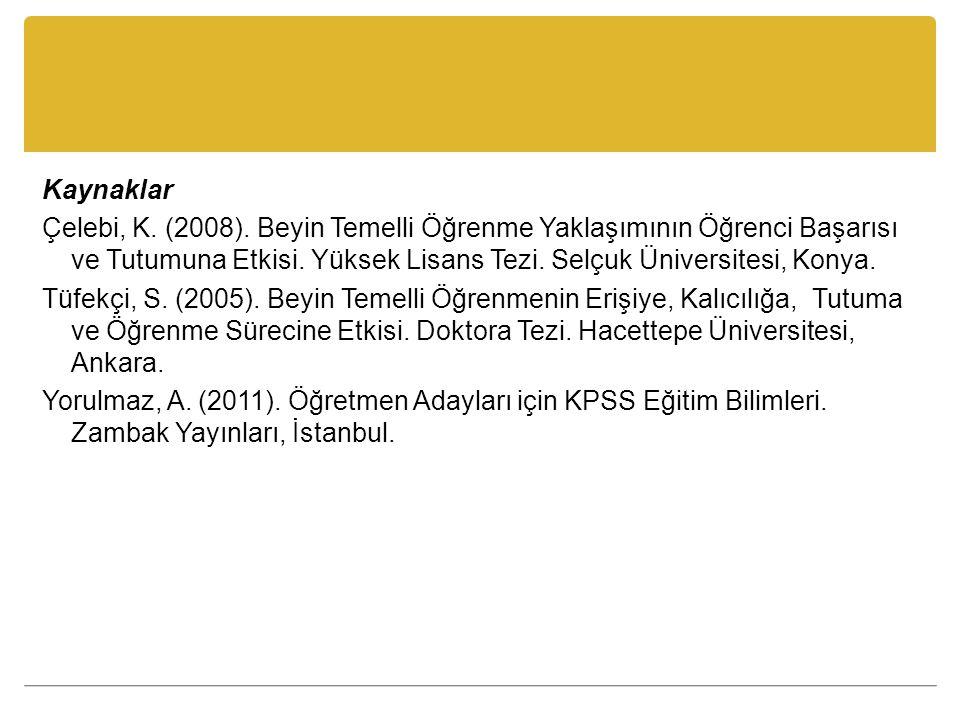 Kaynaklar Çelebi, K. (2008).