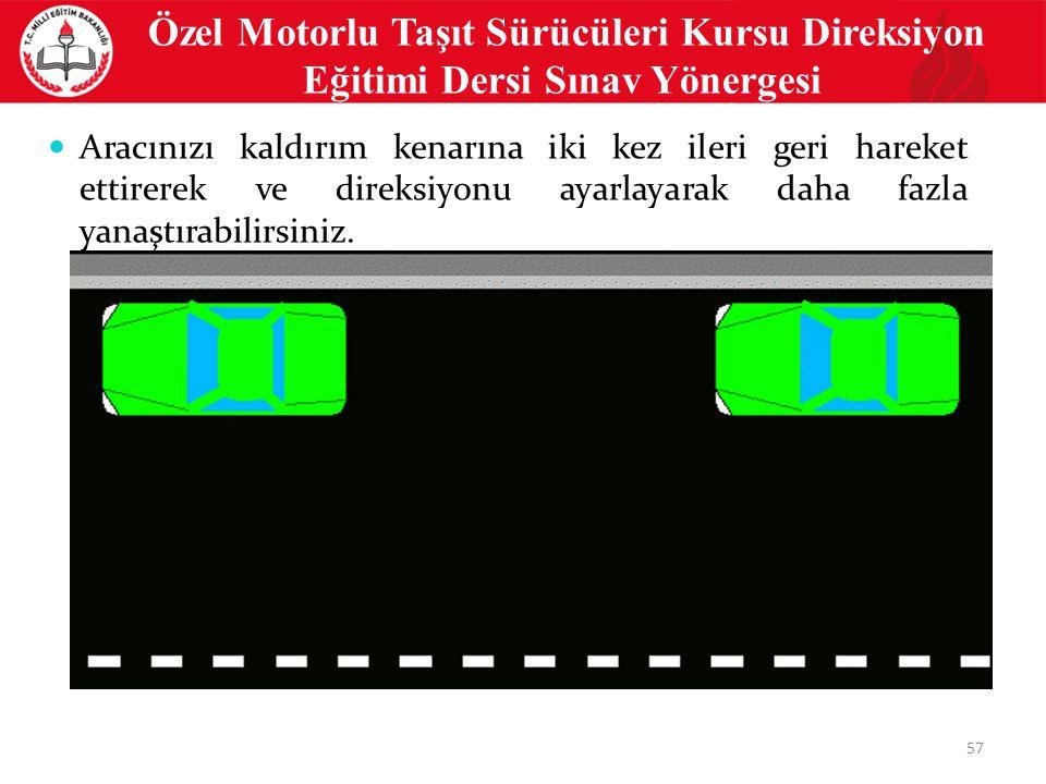 Özel Motorlu Taşıt Sürücüleri Kursu Direksiyon Eğitimi Dersi Sınav Yönergesi