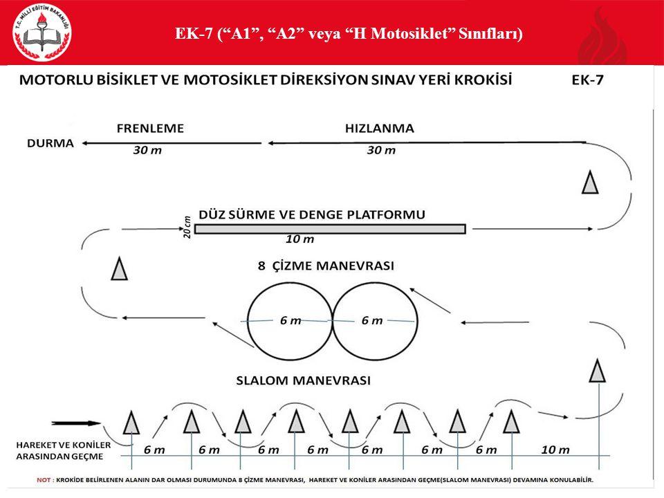 EK-7 ( A1 , A2 veya H Motosiklet Sınıfları)