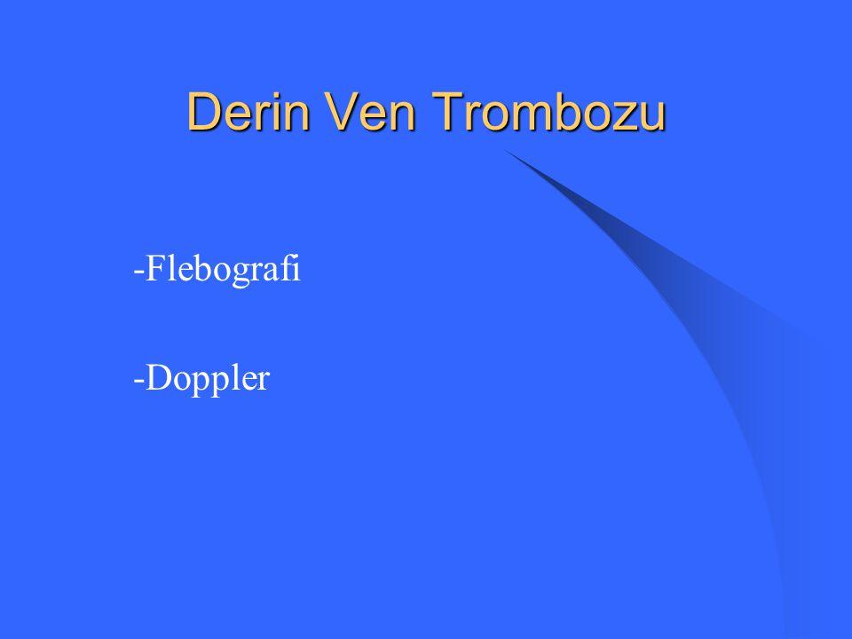 Derin Ven Trombozu -Flebografi -Doppler