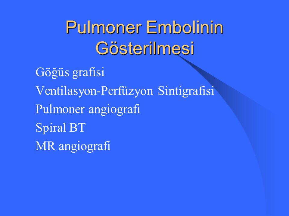 Pulmoner Embolinin Gösterilmesi