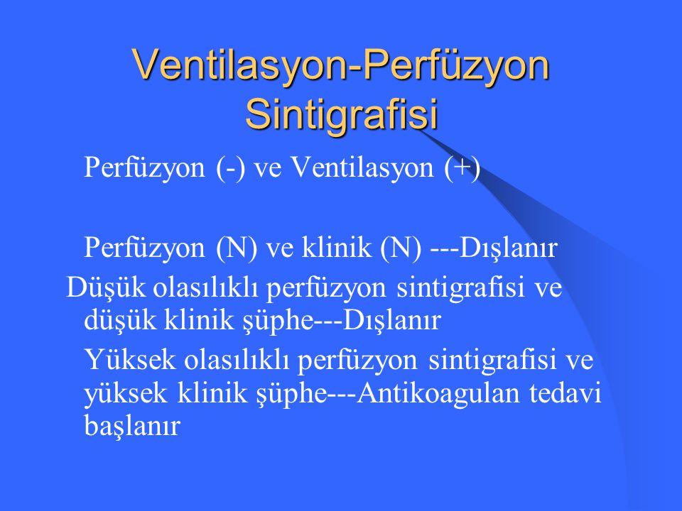 Ventilasyon-Perfüzyon Sintigrafisi