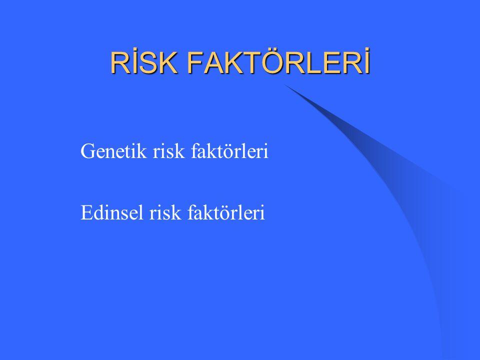RİSK FAKTÖRLERİ Genetik risk faktörleri Edinsel risk faktörleri