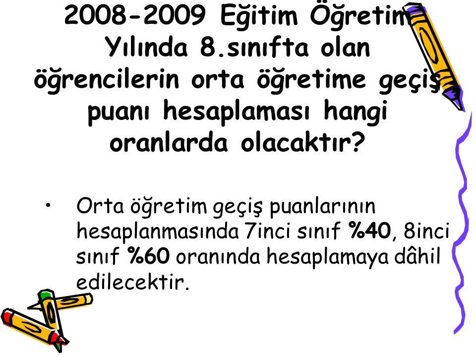 2008-2009 Eğitim Öğretim Yılında 8
