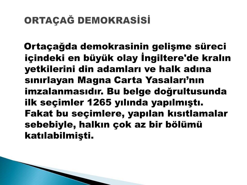 ORTAÇAĞ DEMOKRASİSİ
