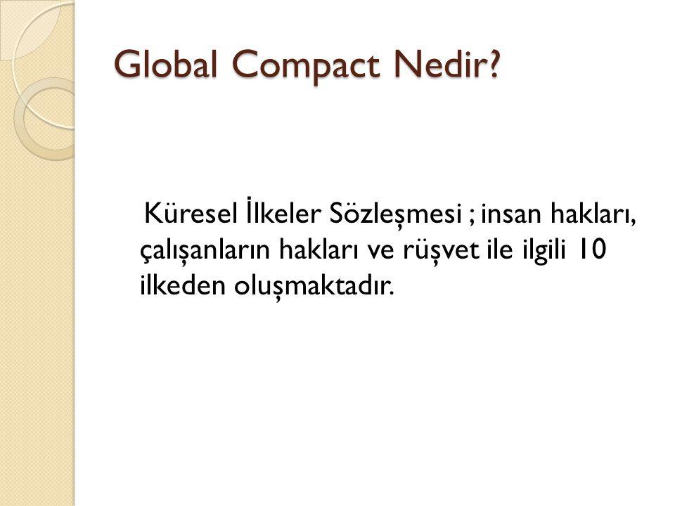 Global Compact Nedir.