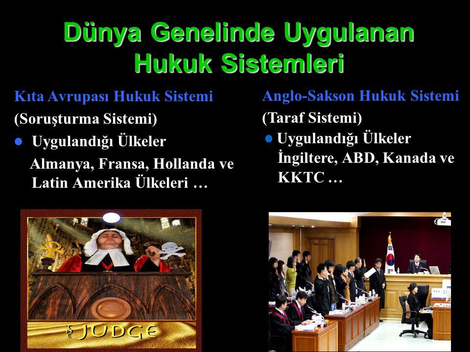 Dünya Genelinde Uygulanan Hukuk Sistemleri
