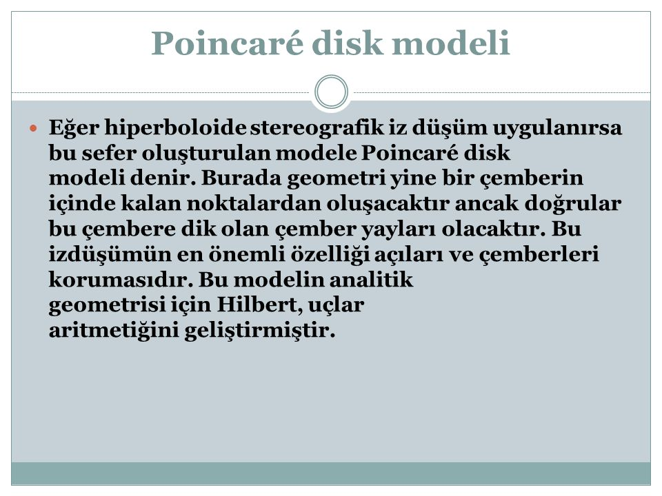 Poincaré disk modeli