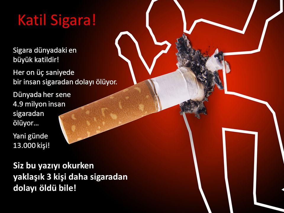 Katil Sigara! Sigara dünyadaki en büyük katildir!