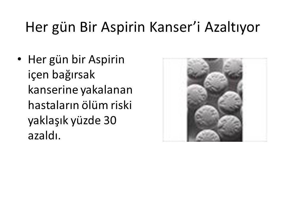 Her gün Bir Aspirin Kanser'i Azaltıyor