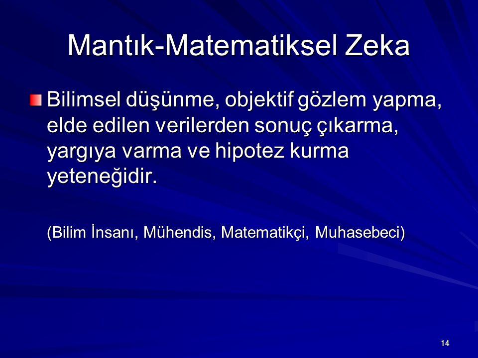 Mantık-Matematiksel Zeka