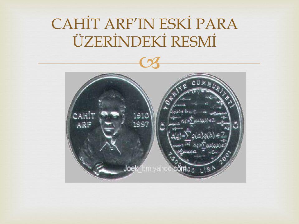 CAHİT ARF'IN ESKİ PARA ÜZERİNDEKİ RESMİ