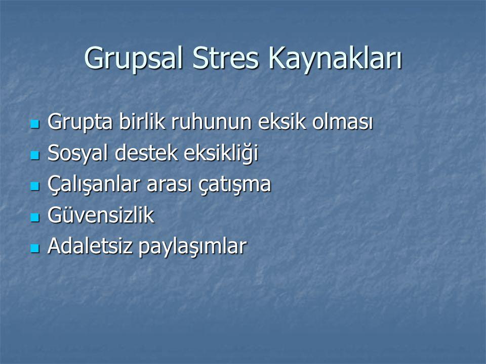 Grupsal Stres Kaynakları