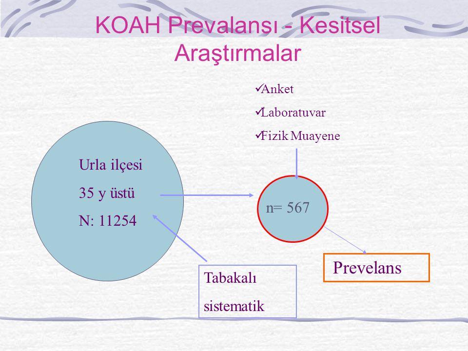 KOAH Prevalansı - Kesitsel Araştırmalar