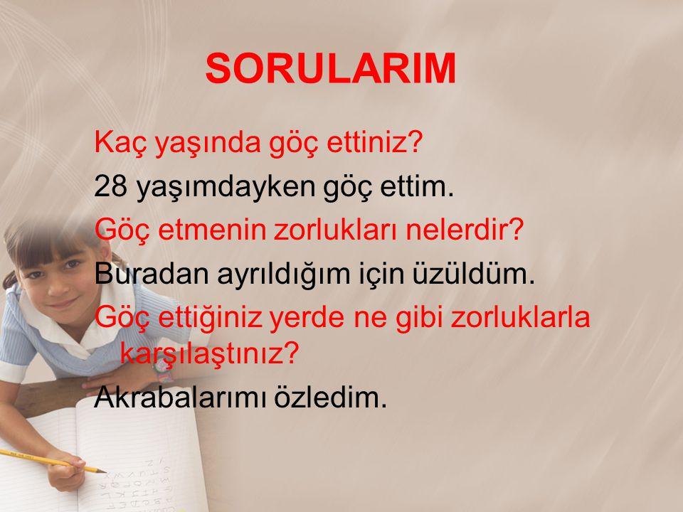SORULARIM