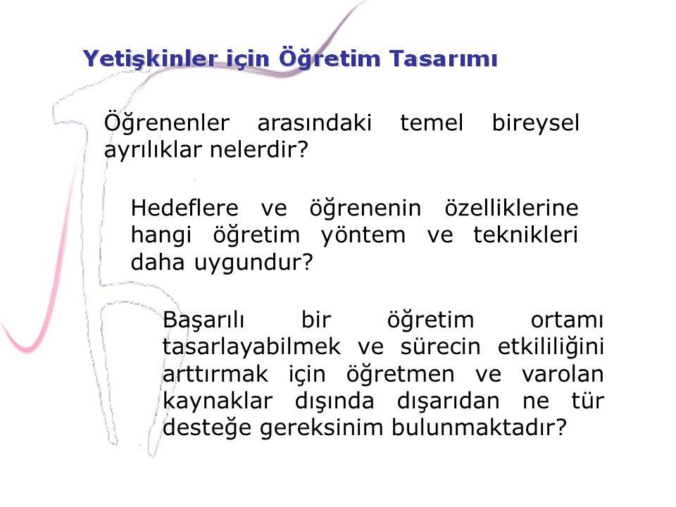 Öğrenenler arasındaki temel bireysel ayrılıklar nelerdir