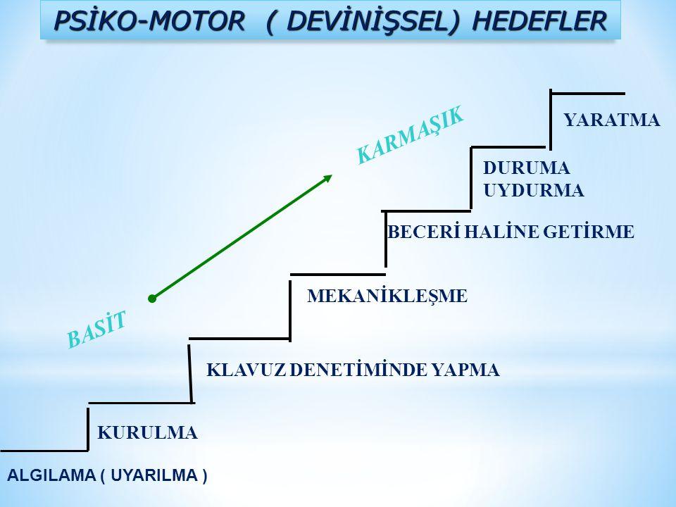 PSİKO-MOTOR ( DEVİNİŞSEL) HEDEFLER