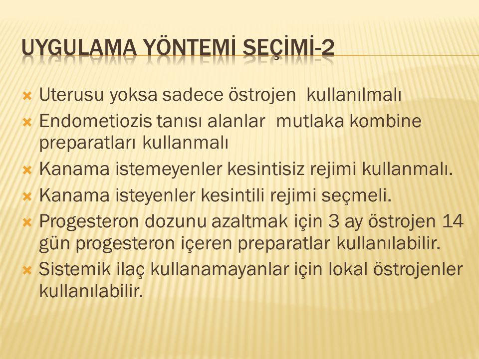 UYGULAMA YÖNTEMİ SEÇİMİ-2