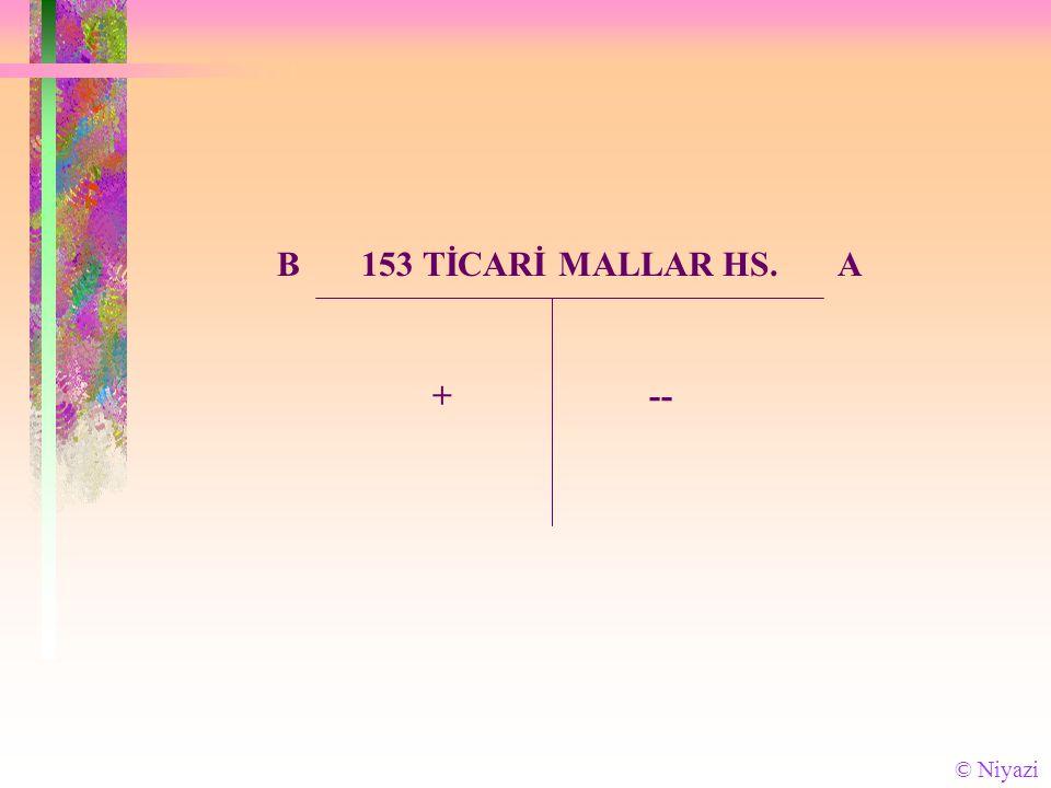 B 153 TİCARİ MALLAR HS. A + -- © Niyazi