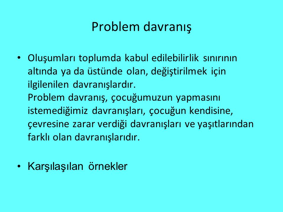 Problem davranış