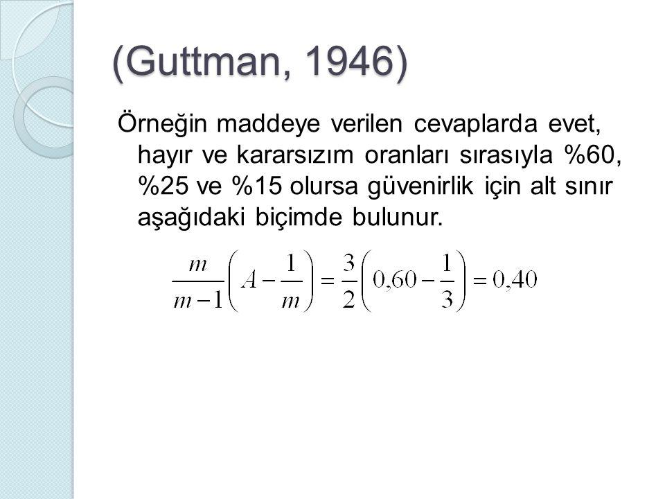 (Guttman, 1946)