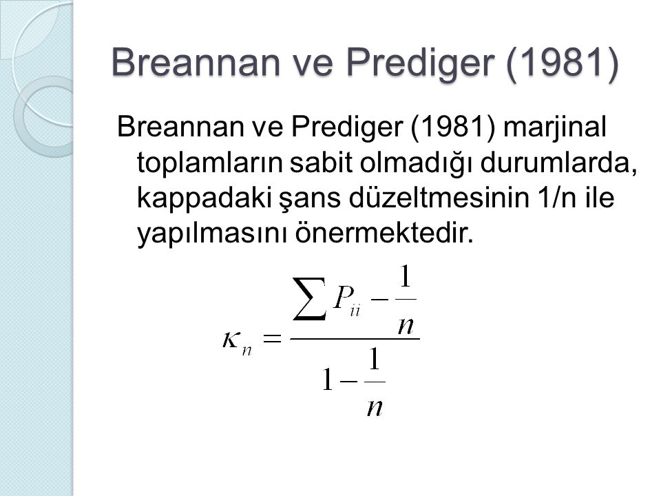 Breannan ve Prediger (1981)