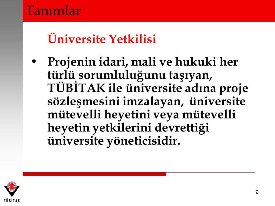 Tanımlar Üniversite Yetkilisi