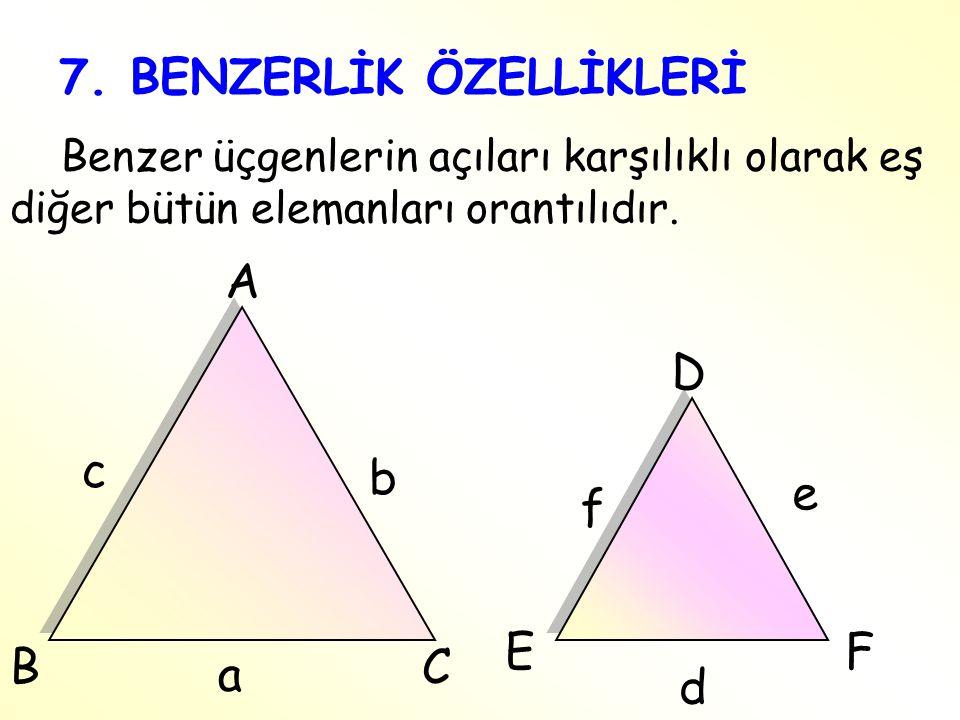 7. BENZERLİK ÖZELLİKLERİ