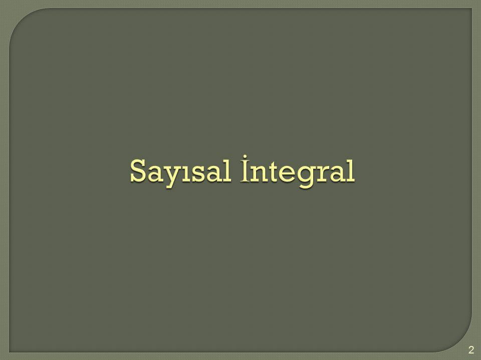 Sayısal İntegral