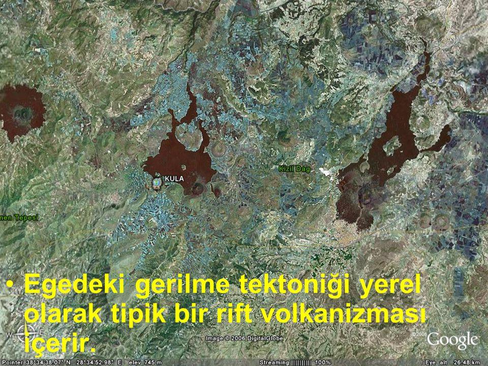 Doç.Dr. Yaşar EREN Egedeki gerilme tektoniği yerel olarak tipik bir rift volkanizması içerir.