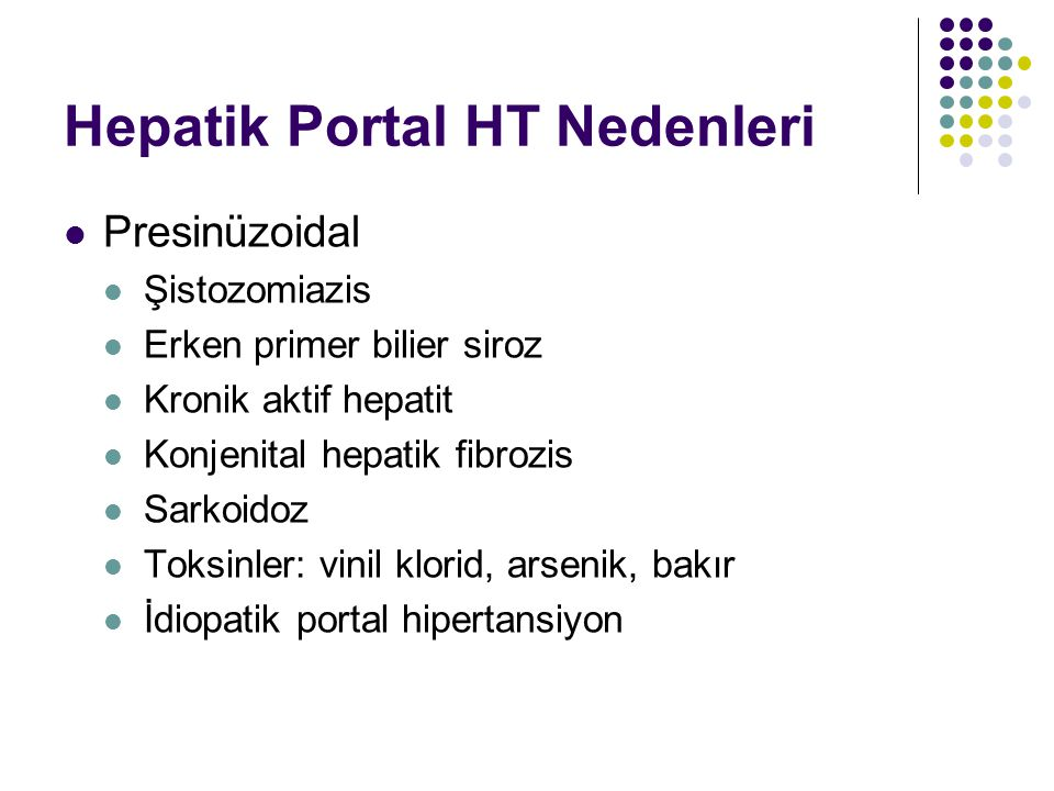 Hepatik Portal HT Nedenleri
