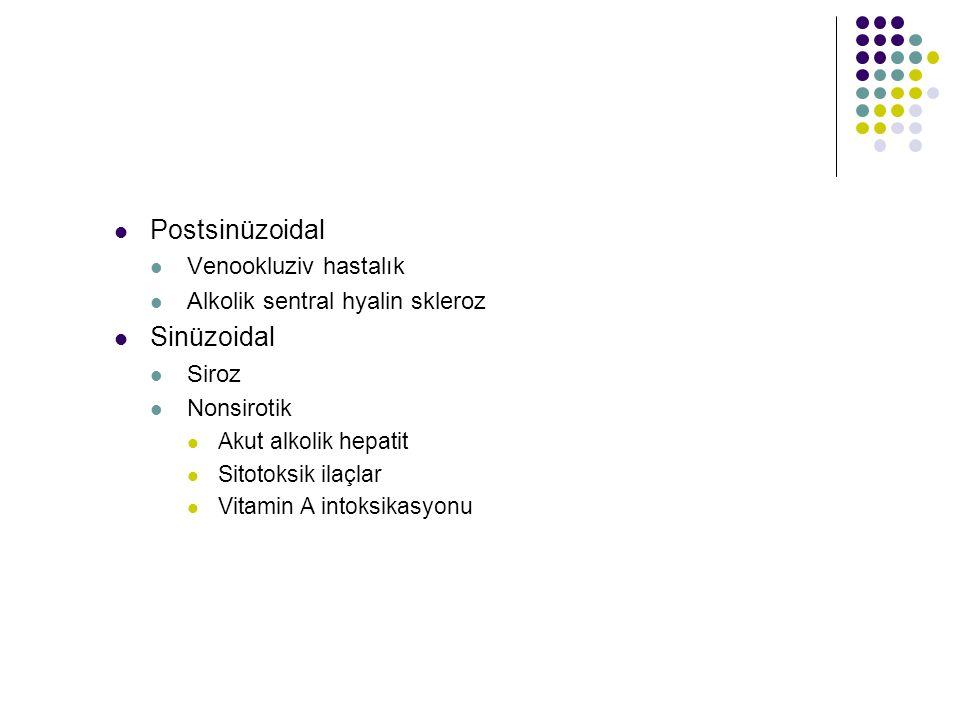 Postsinüzoidal Sinüzoidal Venookluziv hastalık