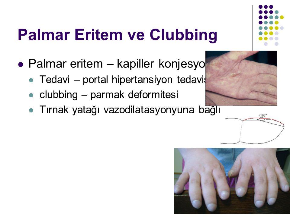 Palmar Eritem ve Clubbing