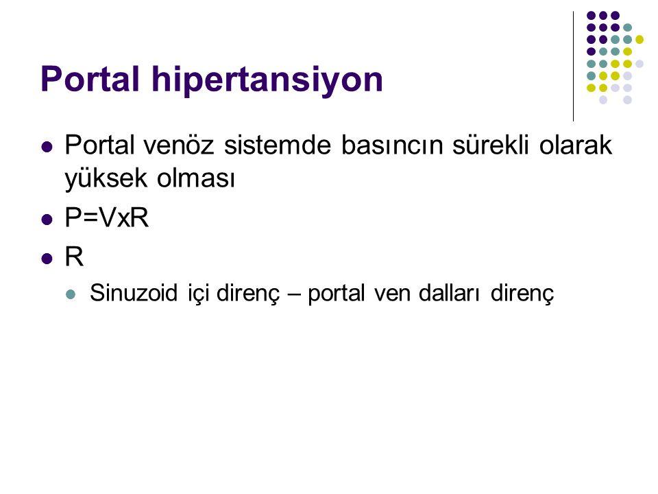 Portal hipertansiyon Portal venöz sistemde basıncın sürekli olarak yüksek olması.