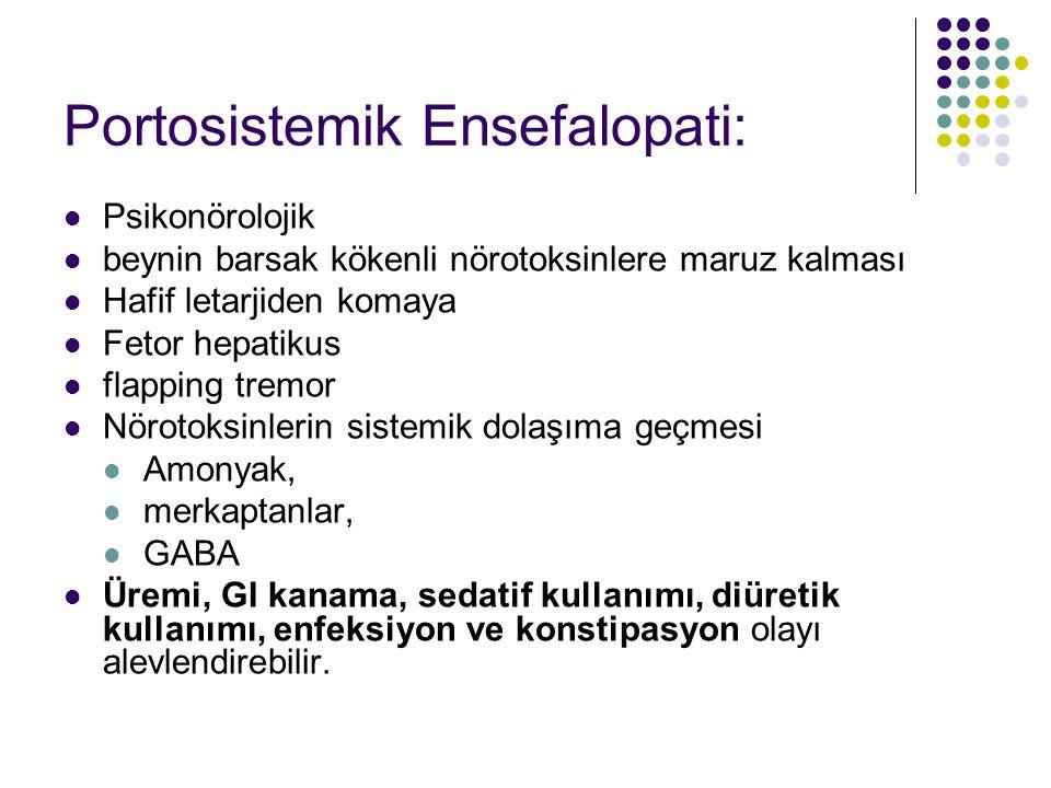 Portosistemik Ensefalopati: