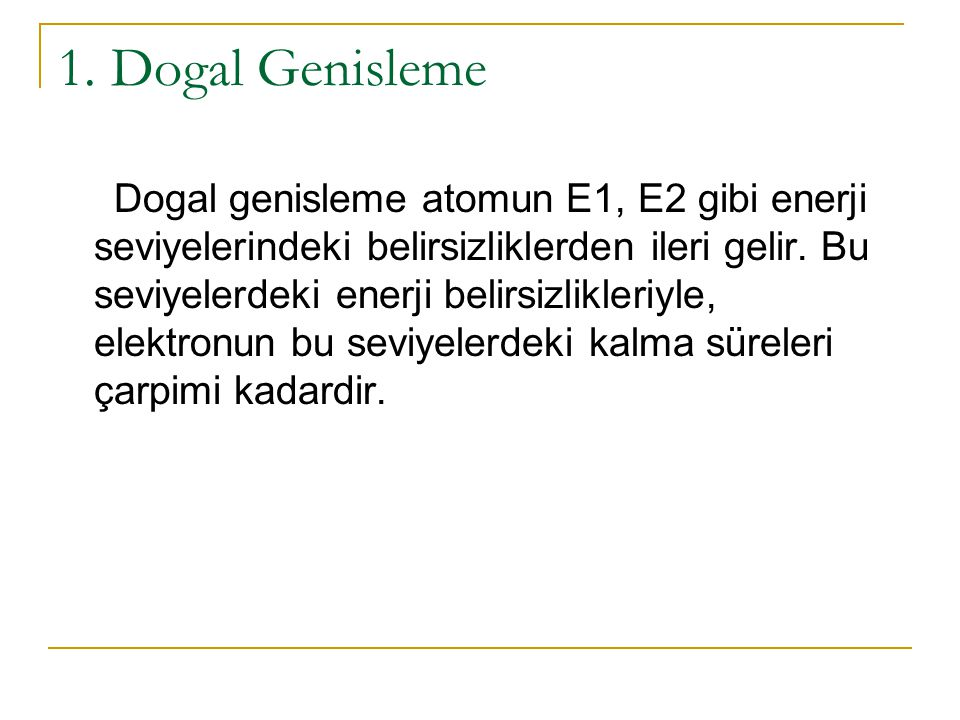 1. Dogal Genisleme