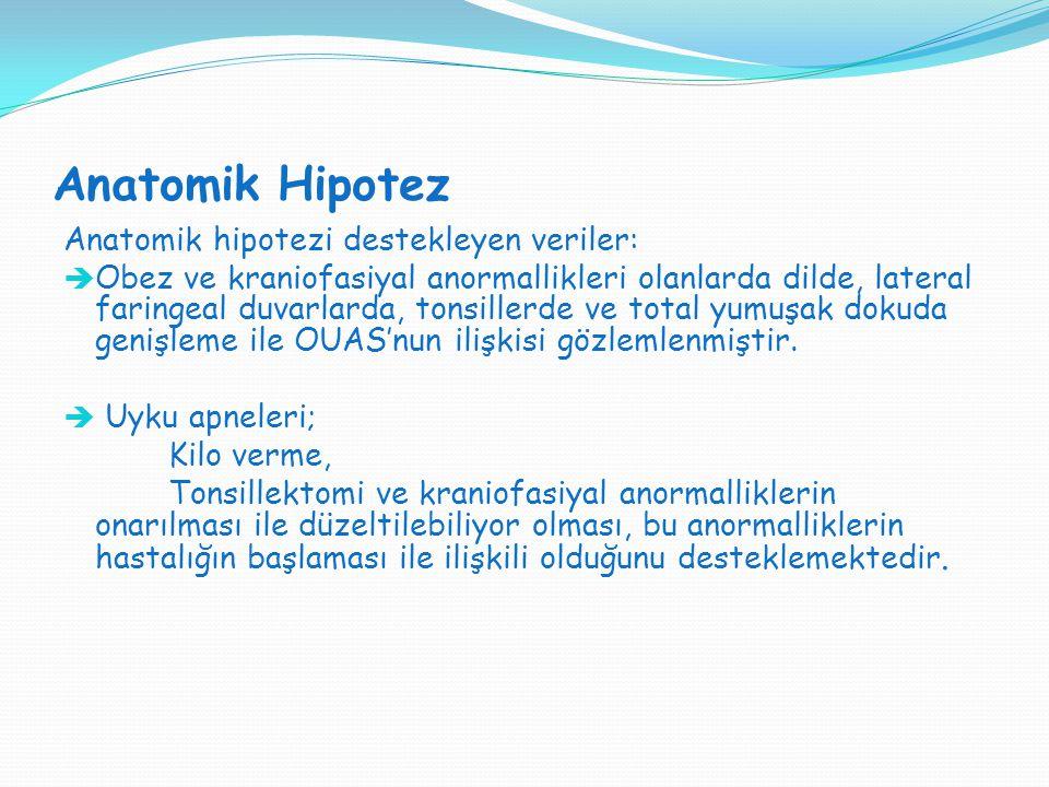 Anatomik Hipotez Anatomik hipotezi destekleyen veriler: