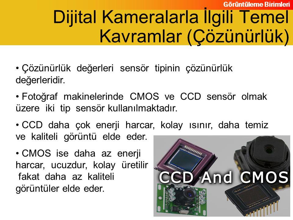 Dijital Kameralarla İlgili Temel Kavramlar (Çözünürlük)