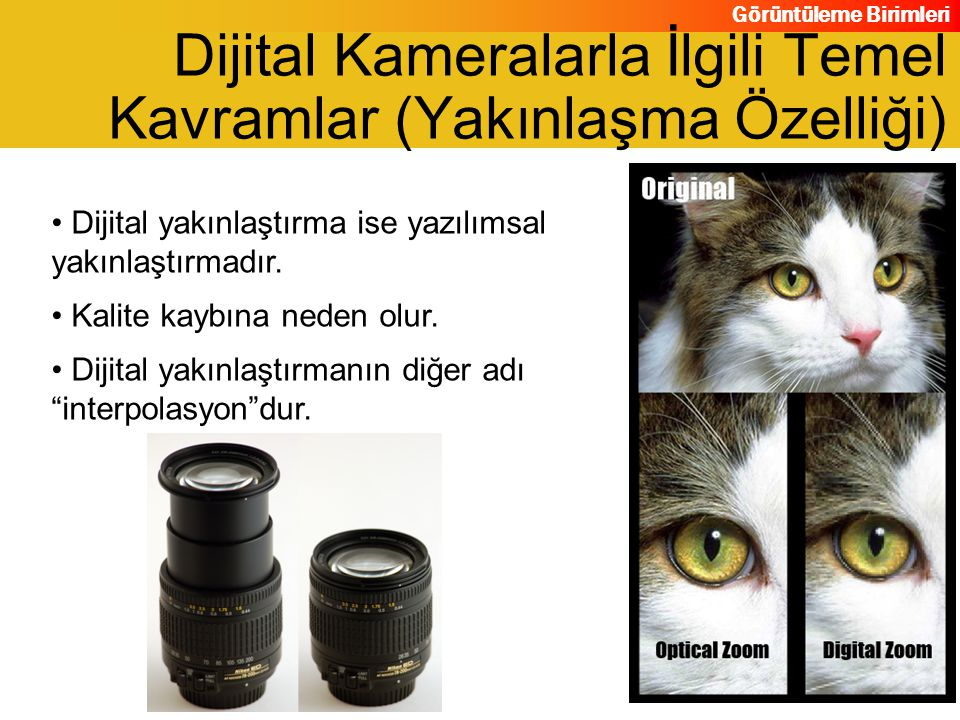 Dijital Kameralarla İlgili Temel Kavramlar (Yakınlaşma Özelliği)