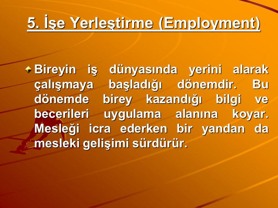 5. İşe Yerleştirme (Employment)