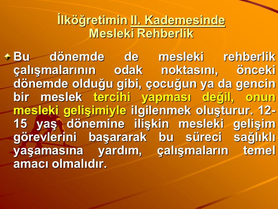 İlköğretimin II. Kademesinde Mesleki Rehberlik